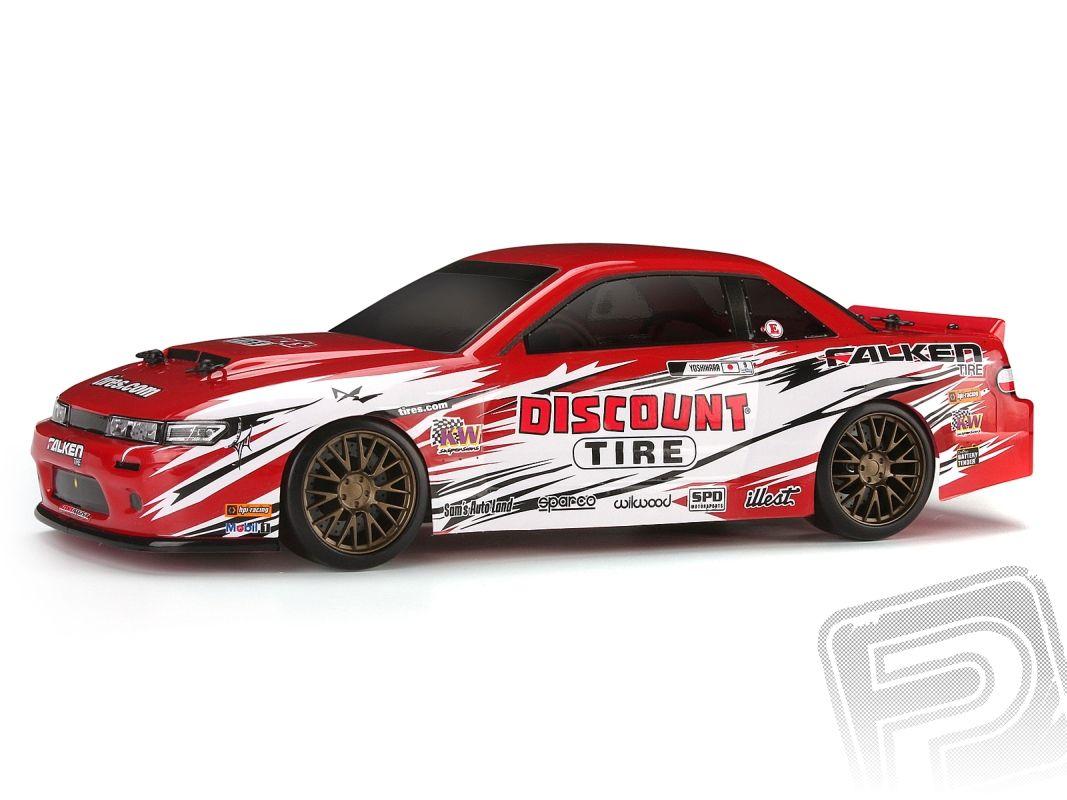 Micro RS4 DRIFT Nissan S13 s 2,4GHz RC soupravou, kar. Discount Tire HPI