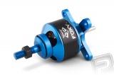 Střídavý elektromotor s rotačním pláštěm pro modely letadel: větroň 800g, trenér 700g, akro 600g, 3D 400g, KV1100 ot./min na V, napájení Lixx 2-3s, hřídel 3.0 mm. Včetně unašeče pro pevnou vrtuli a sady pro zadní montáž. FOXY
