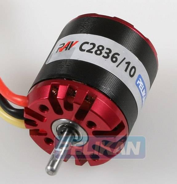 RAY C2836/10 outrunner brushless motor pelikan